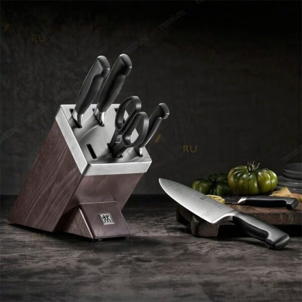 ZWILLING® ****FOUR STAR Knife block set with KiS technology, 7-pcs | Brown | Ash  35145-000-0