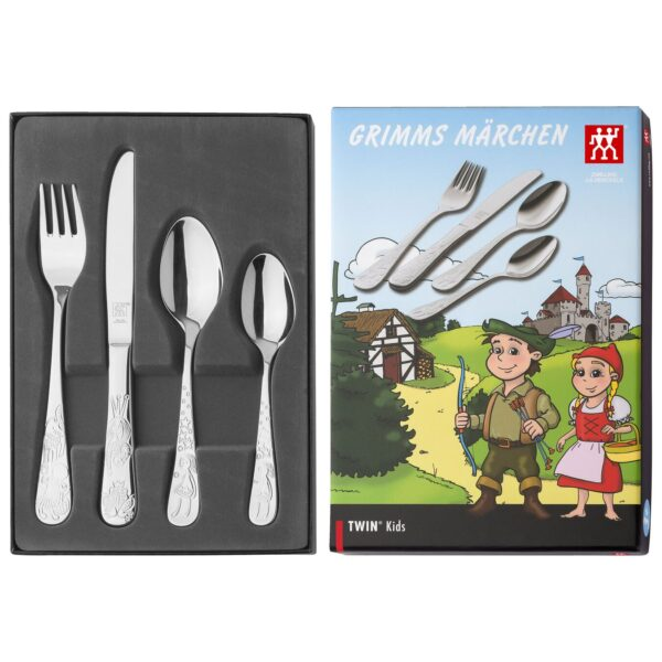 ZWILLING® Twin Kids Grimm Children's flatware set, 4-pcs 07010-210-0