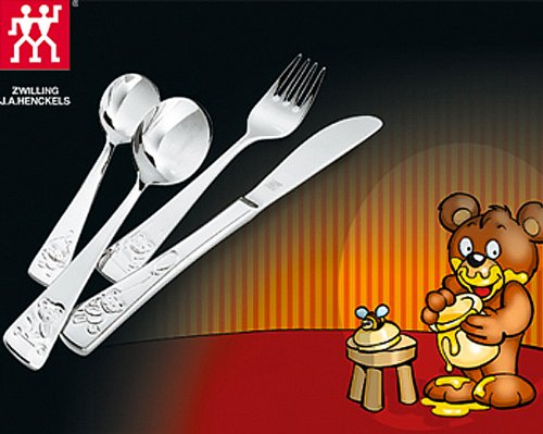 ZWILLING® Twin Kids Teddy Children's flatware set, 4-pcs 07012-210-0