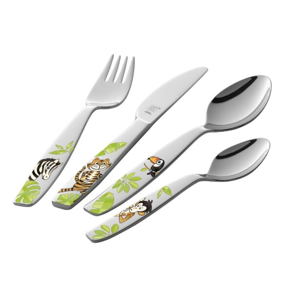 ZWILLING® Kids Jungle Children's flatware set, 4-pcs 07135-210