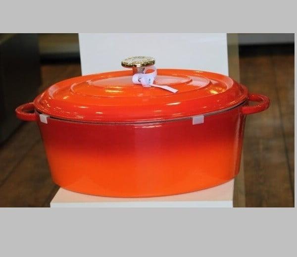 STAUB  Կաթսա, 31 սմ | Օվալ | Չուգուն | Նարնջագույն  1343119