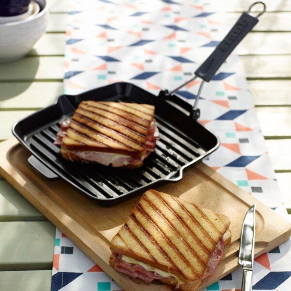 STAUB Square Cast Iron  Grill Pan, 24 cm | Black|   40509-344