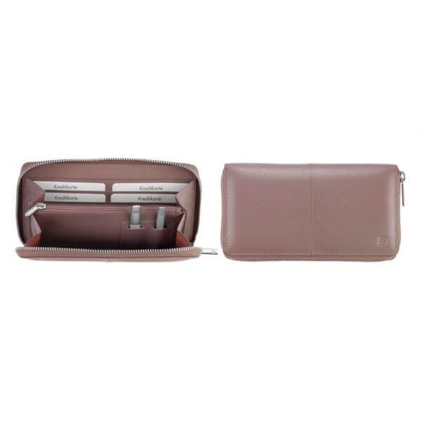 ZWILLING® TWINOX® Manicure Cases Կանացի դրամապանակ՝ նրբունելով և խարտոցով | բաց մանուշակագույն| 97566-002