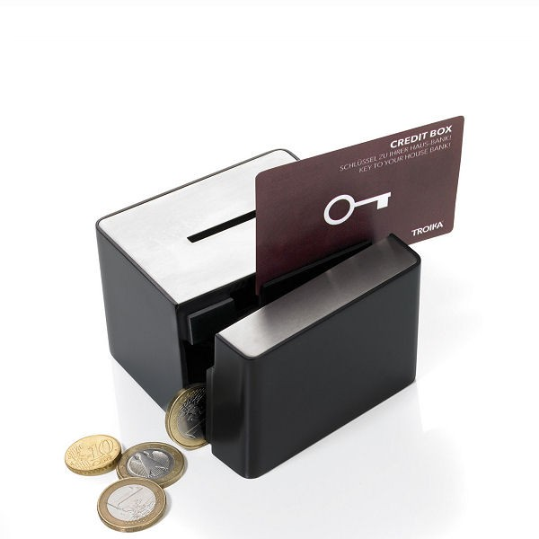 Troika Money Box with Credit Card opening mechanism BAN30/BK