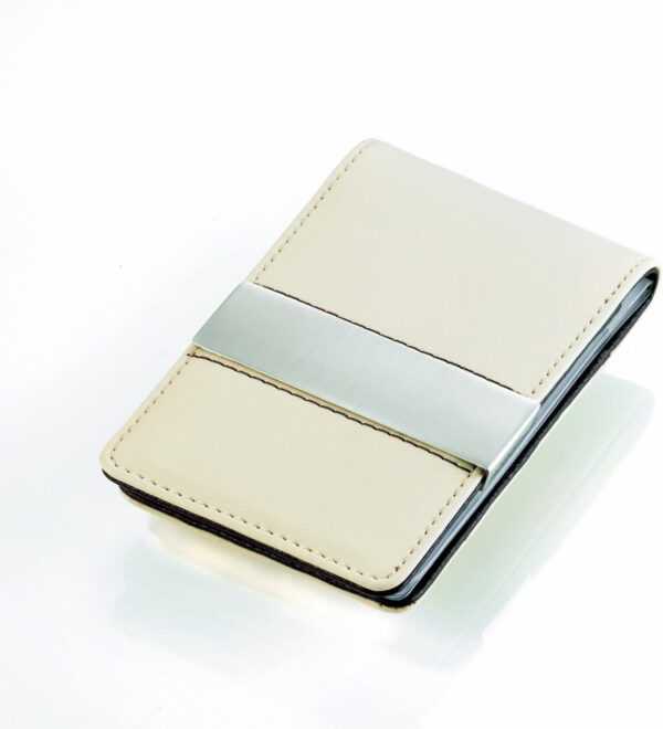 Troika Credit Card Wallet with Money Clip |CAPPUCCINO | CCT45/LE
