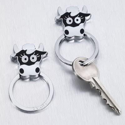 "Troika Key Ring ""Cow Elsa"" KR7-02/BK"