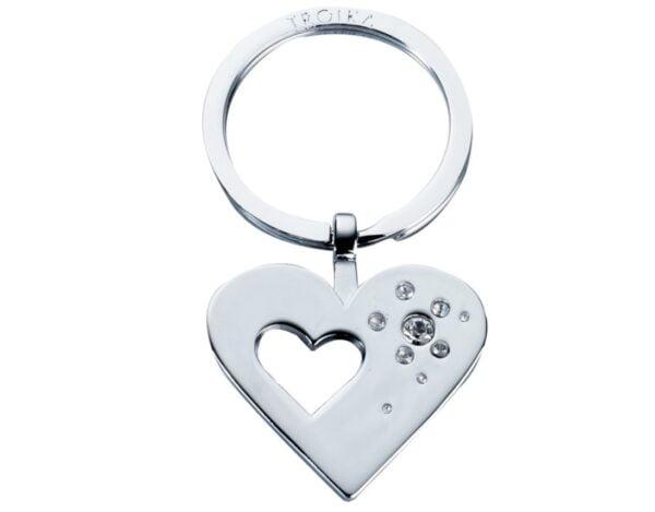 Troika Key Ring Heart Shaped  KR7-30/CH