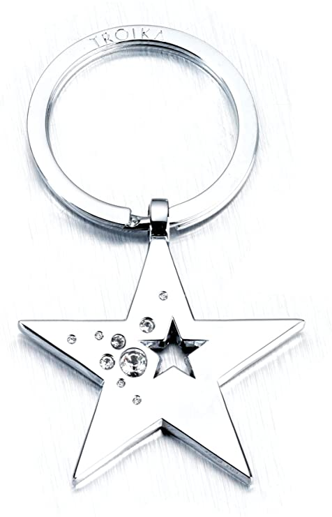 Troika Key Ring Heart Shaped  KR7-30/CH