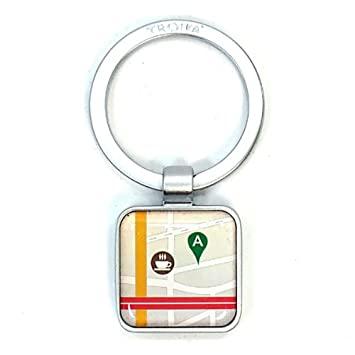 """Troika App Keyring """"Maps""""  KYR12-P09"""
