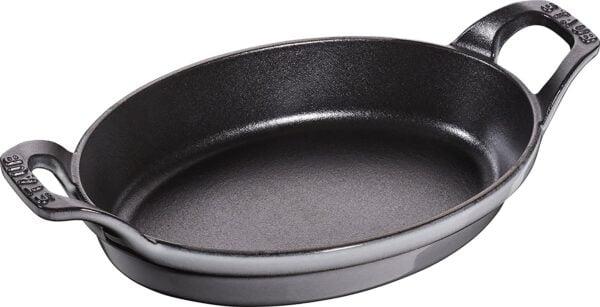 STAUB Pan, 21 cm | cast iron | Oval - Gray