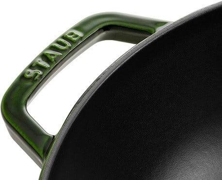 Staub Չուգունե թավա/վոկ, 30 սմ | Կլոր | Ռեհանի կանաչ| 40511-465-0