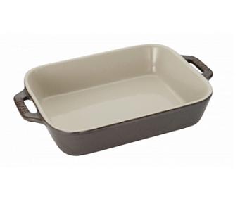 Staub Ջեռոցի թավաների հվքծ, 2 կտ. |Կերամիկական|Օխրա մոխրագույն| 40511-922-0